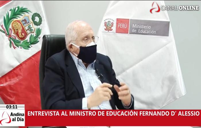 EN VIVO: Entrevista al ministro de Educación Fernando D' Alessio