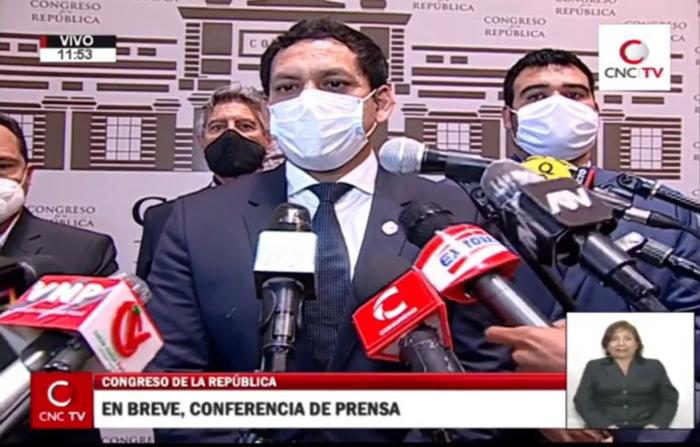 EN VIVO: Conferencia de prensa de Luis Valdez, presidente del Congreso