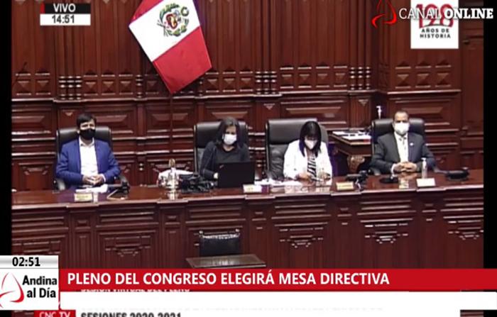 EN VIVO: Pleno del Congreso elige nueva Mesa Directiva