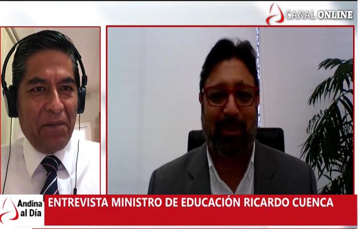 EN VIVO: Entrevista al ministro de Educación Ricardo Cuenca
