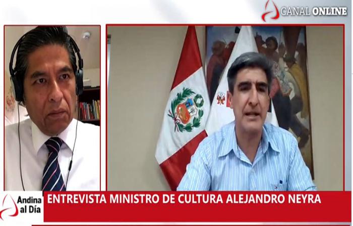 EN VIVO: Entrevista al ministro de Cultura Alejandro Neyra