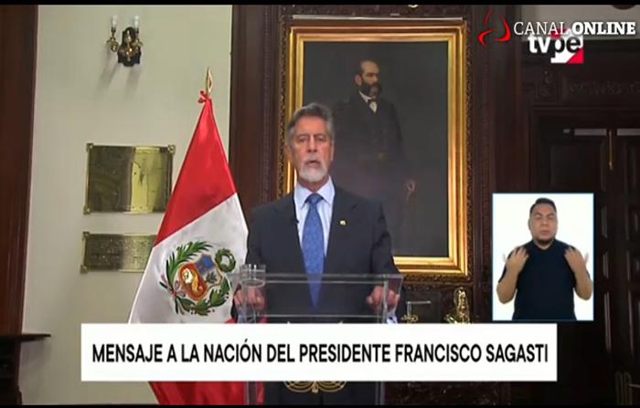 EN VIVO: Mensaje a la nación del presidente Francisco Sagasti