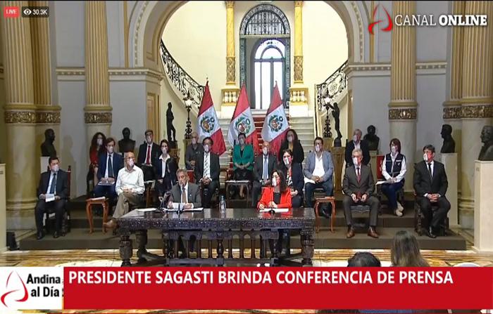 EN VIVO: Conferencia de prensa del presidente Francisco Sagasti