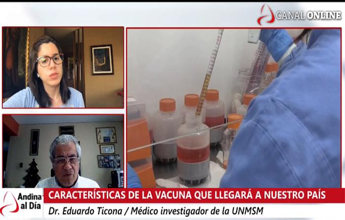 EN VIVO: ¿Cuáles son las características de la vacuna que llegará al país?