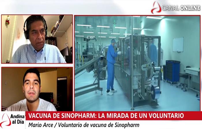 EN VIVO: Vacuna de Sinopharm: la mirada de un voluntario