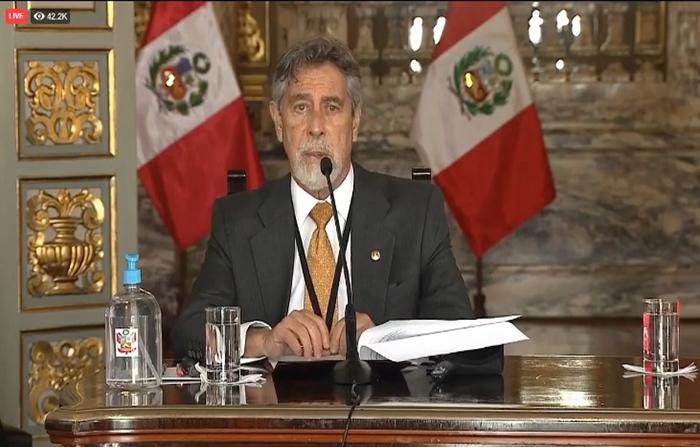 EN VIVO: Presidente Sagasti anuncia nuevas medidas ante covid-19
