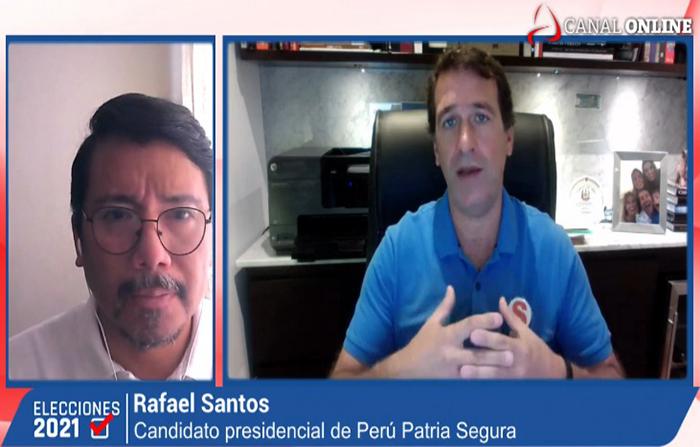 Elecciones 2021: Rafael Santos, candidato presidencial de Perú Patria Segura