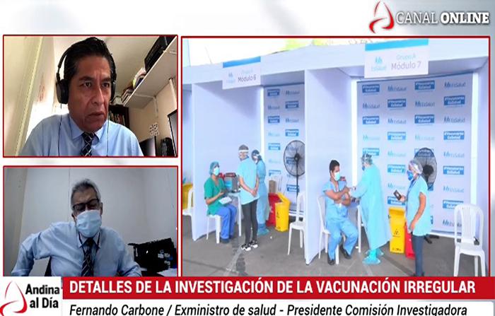 EN VIVO: Detalles e implicancias de la investigación de la vcunación irregular