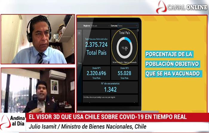 EN VIVO: Plataforma territorial que aplica Chile para informar de covid-19 en tiempo real