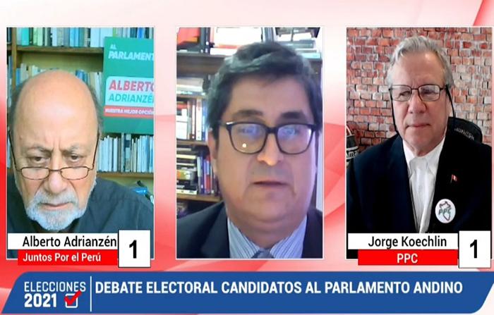 Parlamento Andino: debate entre Jorge Koechlin (PPC) y Alberto Adrianzén (Juntos Por el Perú)