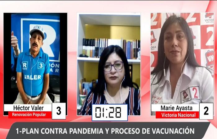 Debate Electoral: Héctor Valer (Renovación Popular ) y Marie Ayasta ( Victora Nacional)