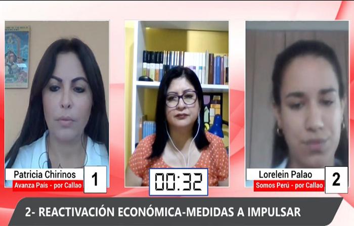 Debate Electoral: Lorelein Palao (Somos Perú) y Patricia Chirinos (Avanza País)
