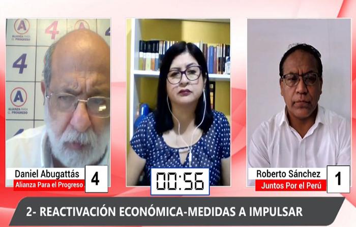 Debate Electoral: Daniel Abugattás (Alianza para el Progreso) y Roberto Sánchez (Juntos por el Perú)