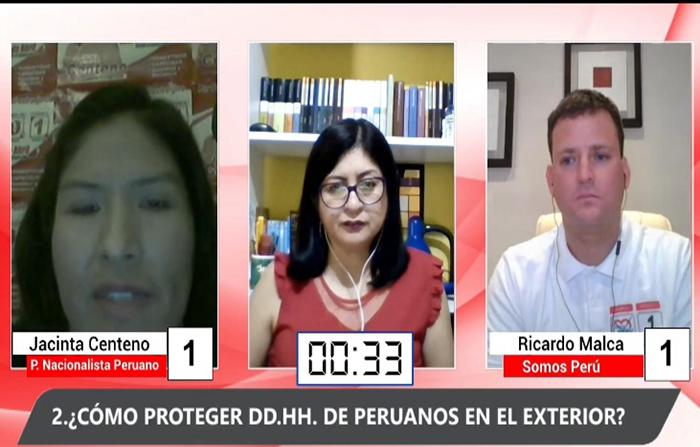 Debate Electoral- Candidatos de peruanos en el exterio