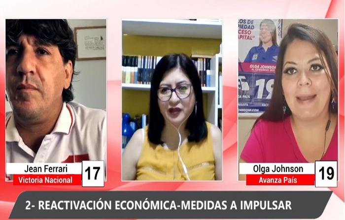 Debate Electoral: Jean Ferrari (Victoria Nacional) y OlgaJohnson (Avanza País)
