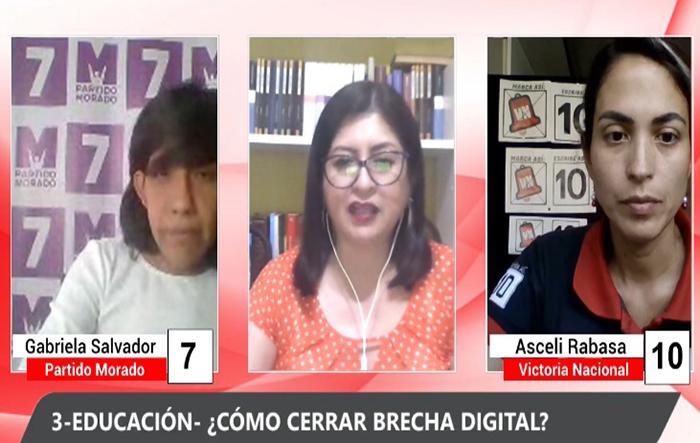 Debate Electoral: Gabriela Salvador (Partido Morado) y Asceli Rabasa (Victori Nacional)