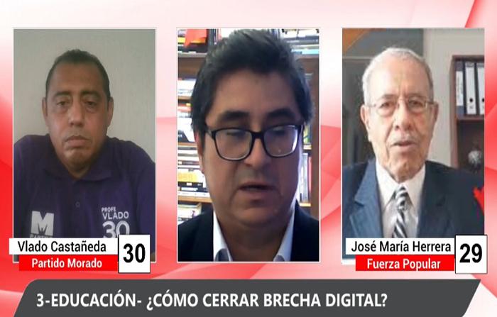 Debate Electoral: Vlado Castañeda (Partido Morado) y José María Herrera (Fuerza Popular)