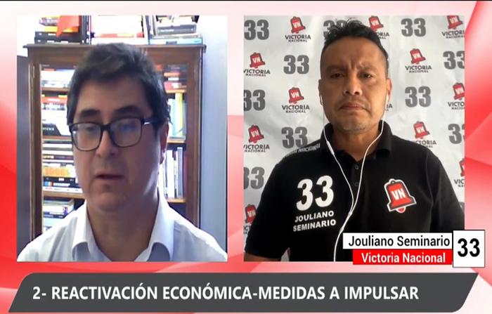 Debate Electoral: Jouliano Seminario (Victoria Nacional )y Dante Fernàndez (Partido Contigo)