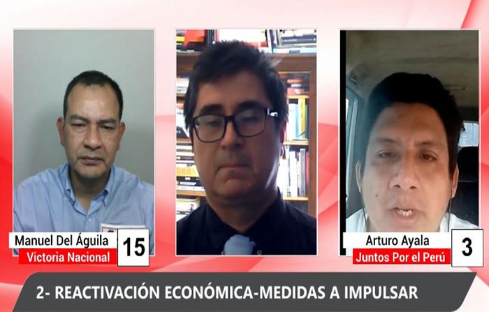 Debate electoral: Manuel Del Águila (Victoria Nacional ) y Arturo Ayala (Juntos Por el Perú )