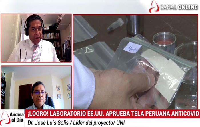 EN VIVO: Tela anticovid creada por peruanos es aprobada internacionalmente