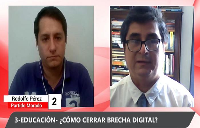 Debate electoral: Ricardo Belmont (Unión Por el Perú) y Rodolfo Pérez ( Partido Morado)