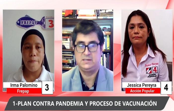 Debate electoral: Irma Palomino (FREPAP) y Jessica Pereyra (Acción Popular) #EnVivo: Irma Palomino (FREPAP) y Jessica Pereyra