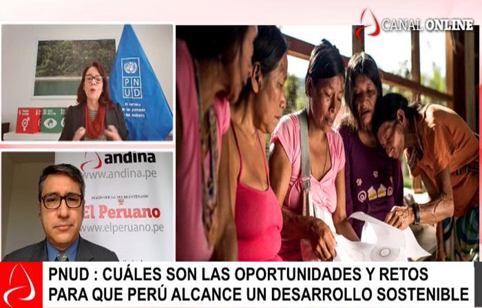 Entrevista a representante del PNUD en Perú: María del Carmen Sacasa