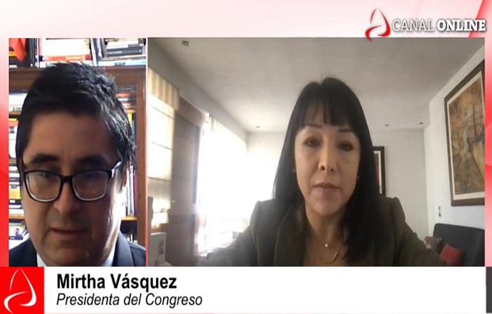 Entrevista a la presidenta del Congreso, Mirtha Vásqez
