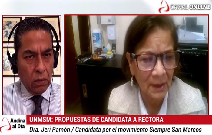 EN VIVO: UNMSM: Propuestas de la candidata al rectorado, Jeri Ramón