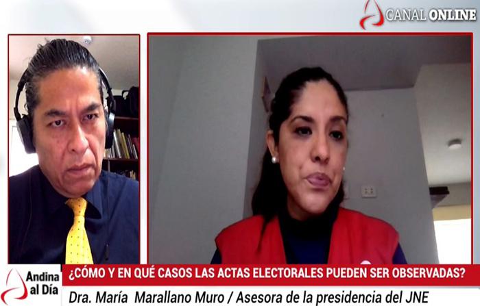 EN VIVO: Casos en los que las actas electorales pueden ser observadas
