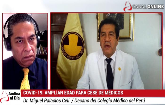 EN VIVO: Covid-19 : Médicos cesarán a los 75 años, según ley