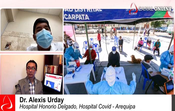 Incremento de casos covid en la región Arequipa