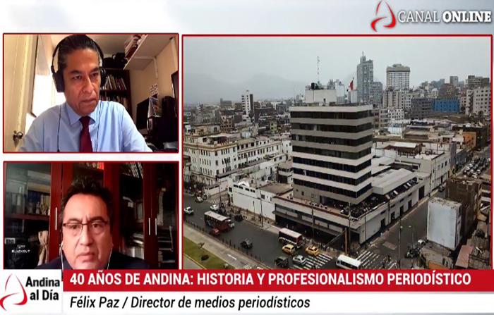 EN VIVO: 40 años de Andina: Historia y profesionalismo periodístico