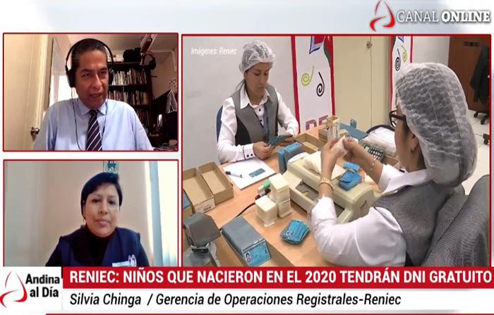 EN VIVO: Reniec: Niños que nacieron en el 2020 tendrán DNI gratuito