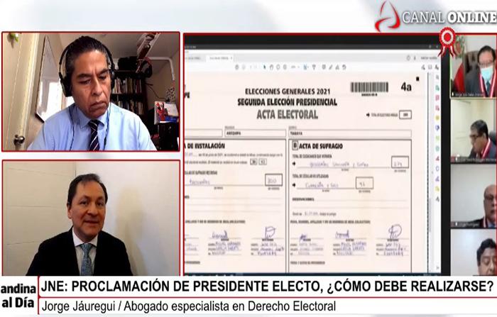 EN VIVO:JNE: Proclamación de presidente electo, ¿cómo debe realizarse?