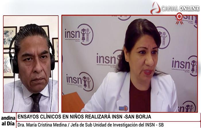 EN VIVO: Ensayos clínicos en niños realizará INSN