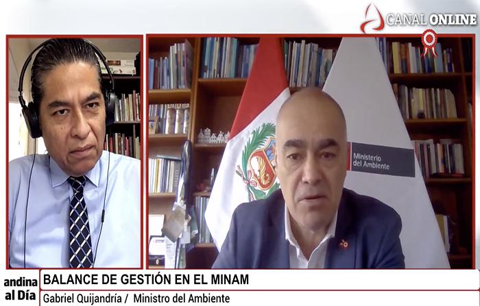 EN VIVO: Entrevista al Ministro del Ambiente, Gabriel Quijandría