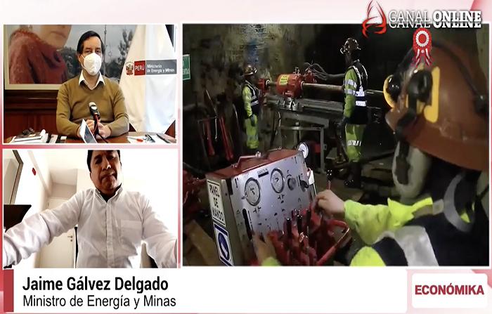 Entrevista a ministro de Energía y Minas, Jaime Gálvez Delgado