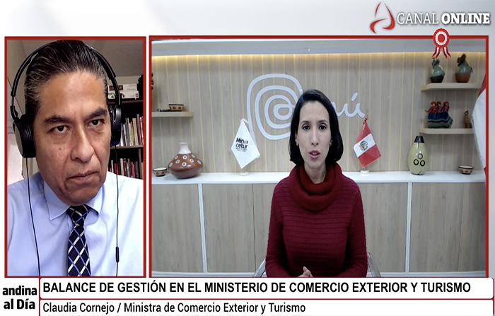 EN VIVO: Entrevista a ministra de Comercio Exterior y Turismo, Claudia Cornejo