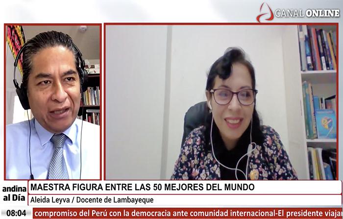 Maestra peruana en ranking de las 50 mejores