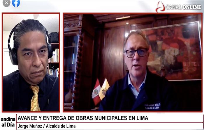 Entrevista al alcalde de Lima, Jorge Muñoz