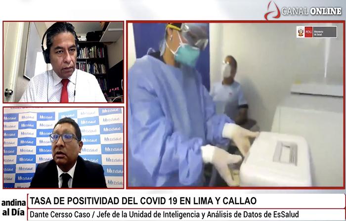 #EnVivo: Covid-19: Cómo ha ido variando la tasa de positividad en Lima y Callao