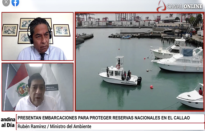 #EnVivo: Embarcaciones de protección de Reserva Nacional en el Callao