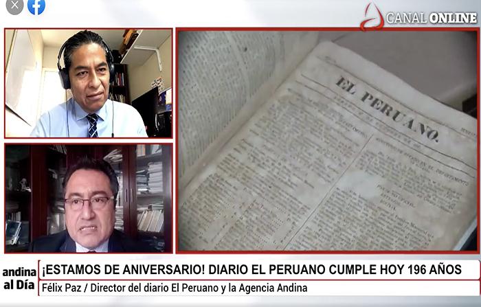 #EnVivo: Diario El Peruano cumple hoy 196 años