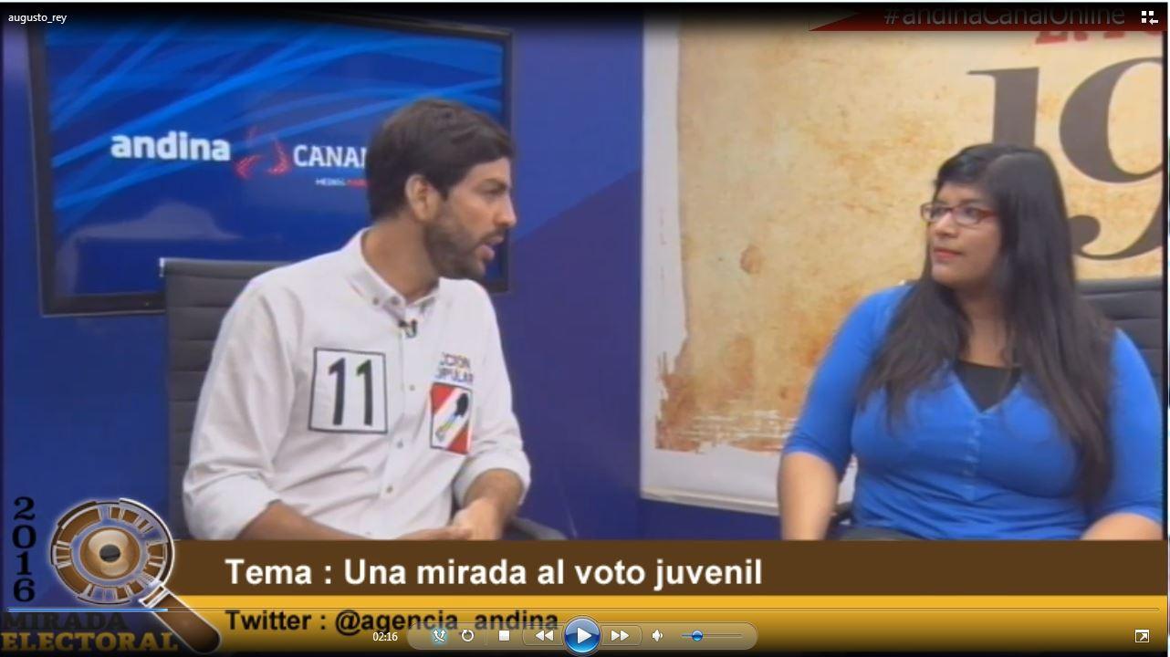 Voto milenial : Augusto Rey - Candidato al Congreso - Acción Popular