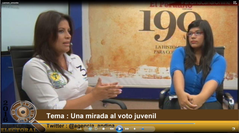 Voto milenial : Carmen Omonte - Candidata al Congreso - Perú Posible
