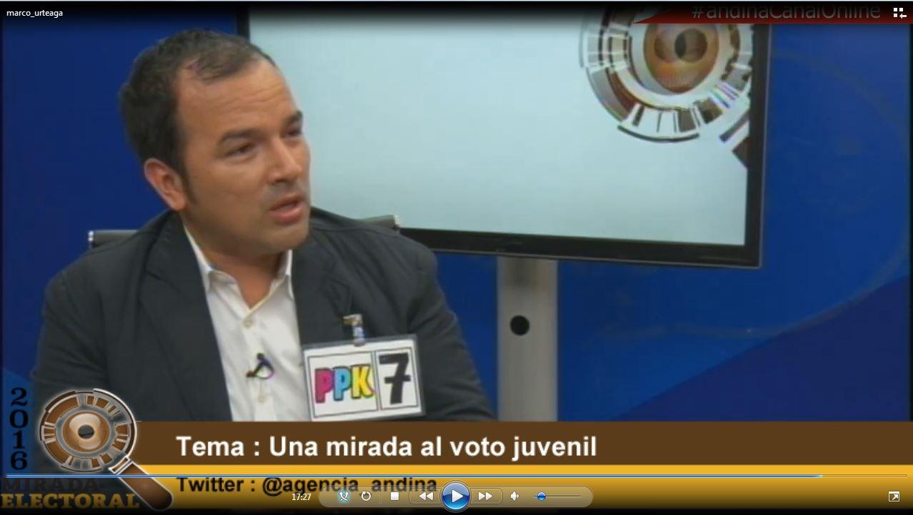 Voto milenial : Marco Urteaga - Candidato al Congreso - Peruanos Por el Kambio