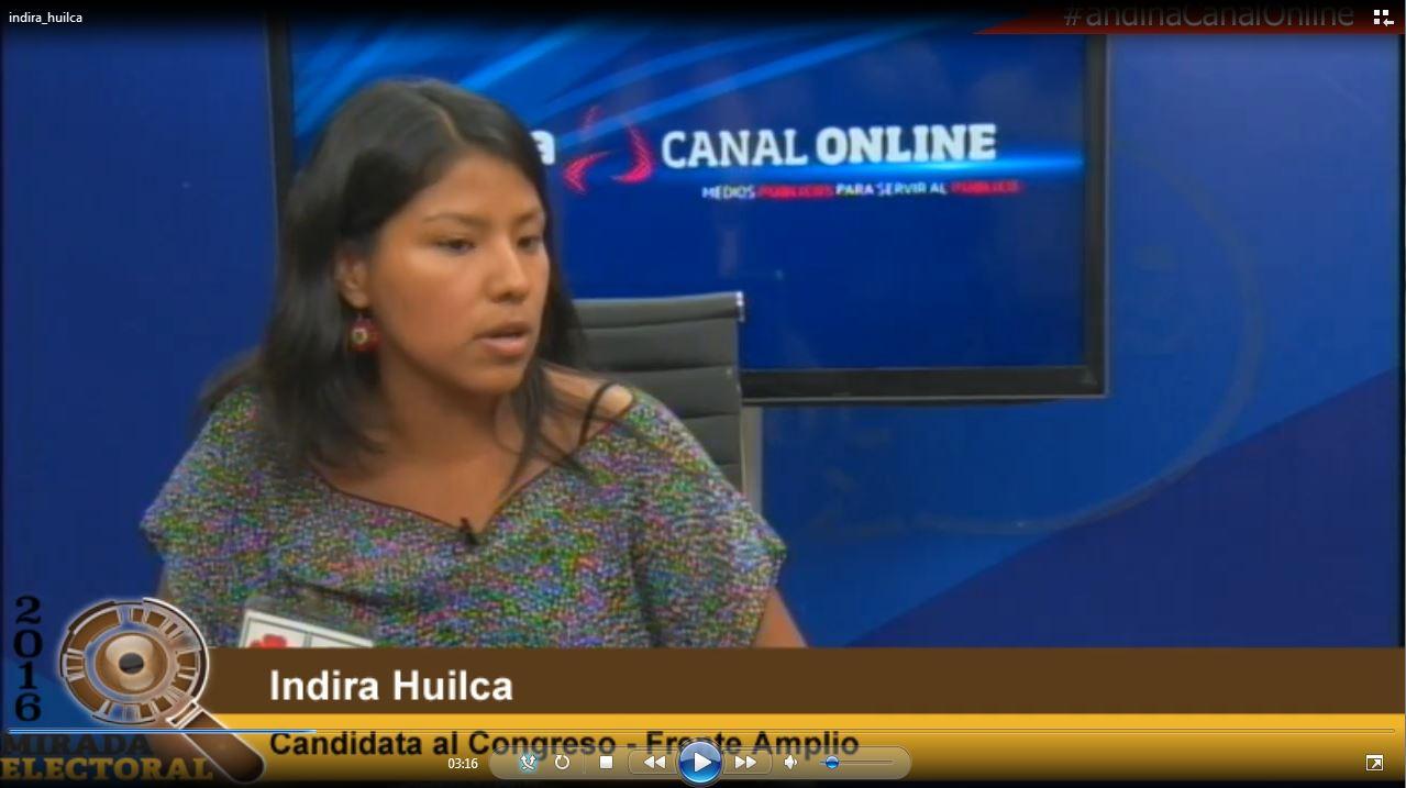 Voto milenial : Indira Huilca - Candidata al Congreso - Frente Amplio