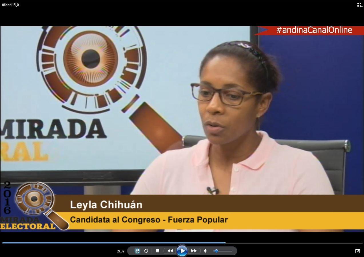 Voto milenial: Leyla Chihuán - Candidata al Congreso - Fuerza Popular