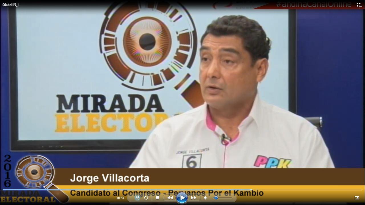 Voto milenial: Jorge Villacorta - Candidato al Congreso - Peruanos Por el Kambio